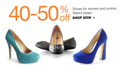 40-50% off Shoes for women and juniors. Select styles. shop now