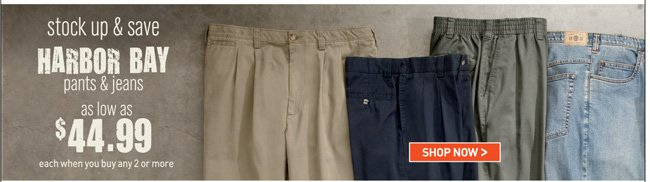 Harbor Bay & Canyon Ridge Pants & Jeans Mix and Match