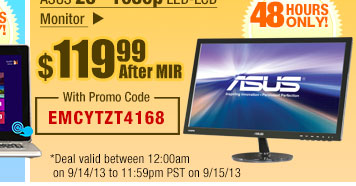"$119.99 After MIR -- ASUS 23"" 1080p LED-LCD Monitor"