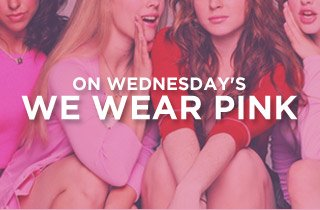 On Wednesday's We Wear Pink