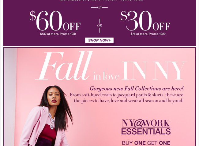 NY@WORK Essentials are buy one, get one 50% off! Shop Now!