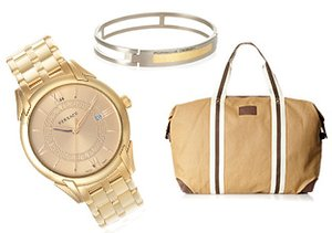 Gold Accents: Accessories