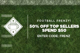 Football Frenzy! 50% Off Top Sellers