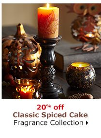 20% off Classic Spiced Cake Fragrance Collection