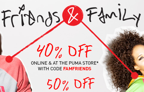 Friends & Family 40% off 50% off
