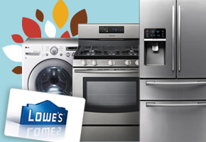 Lowe's Gift Card, Washer, Range and Refrigerator