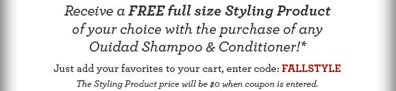 Receive a Free full size Styling Product of your choice