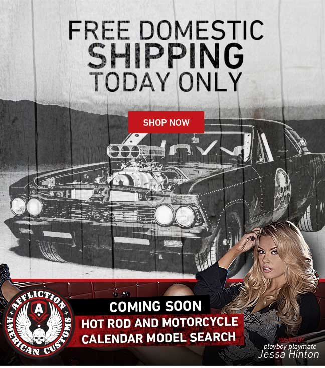 Free Domestic Shipping with ANY Purchase Today Only!