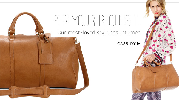 Per Your Request: Our most-loved style has returned. Shop Cassidy