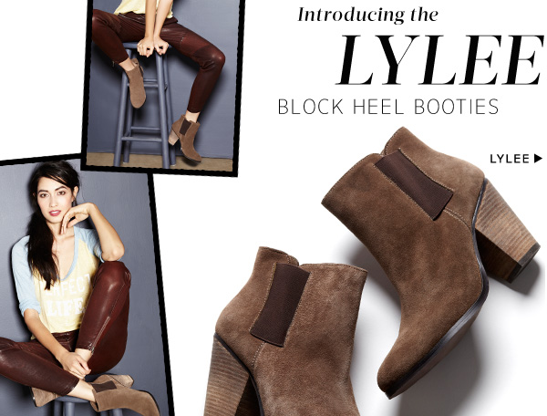 Introducing Lylee Block Heel Booties. Shop Lylee