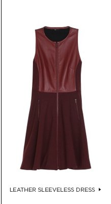 Leather Sleeveless Dress