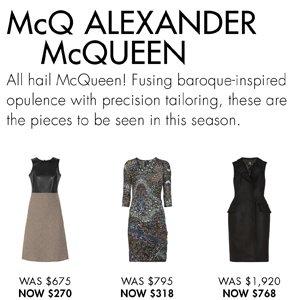 McQ ALEXANDER McQUEEN UP TO 60% OFF
