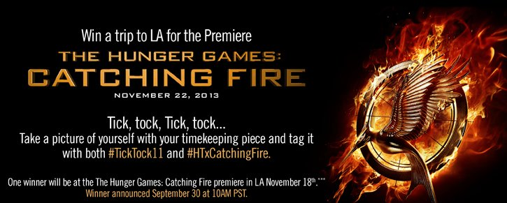 WIN A TRIP TO LA FOR THE PREMIERE - THE HUNGER GAMES: CATCHING FIRE