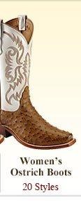 Womens Ostrich Boots
