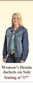 All Womens Denim Jackets on Sale