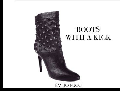 BOOTS WITH A KICK - EMILIO PUCCI