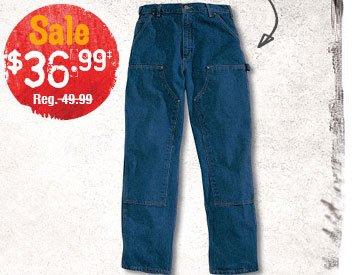 Carhartt® Men's Double Front Logger Dungaree Work Pants - Sale $36.99