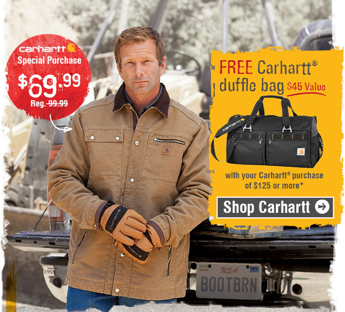 Free Carhartt® Duffle Bag With Your Carhartt® Purchase Of $125 Or More