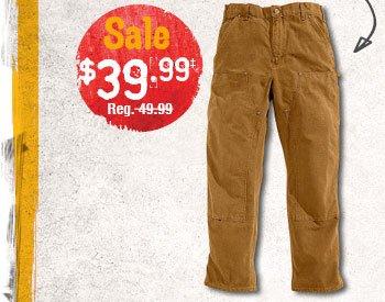 Carhartt® Men's Double-Front Work Dungaree - Sale $39.99