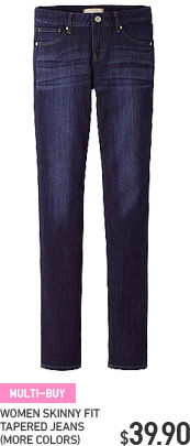 WOMEN TAPERED JEANS