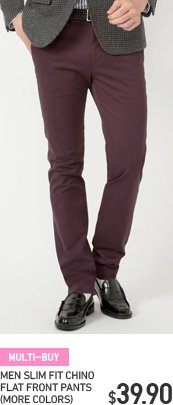 MEN SLIM FIT CHINO PANTS