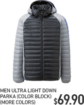 MEN ULD COLOR BLOCK PARKA