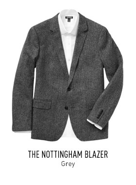 Grey Twill Blazer