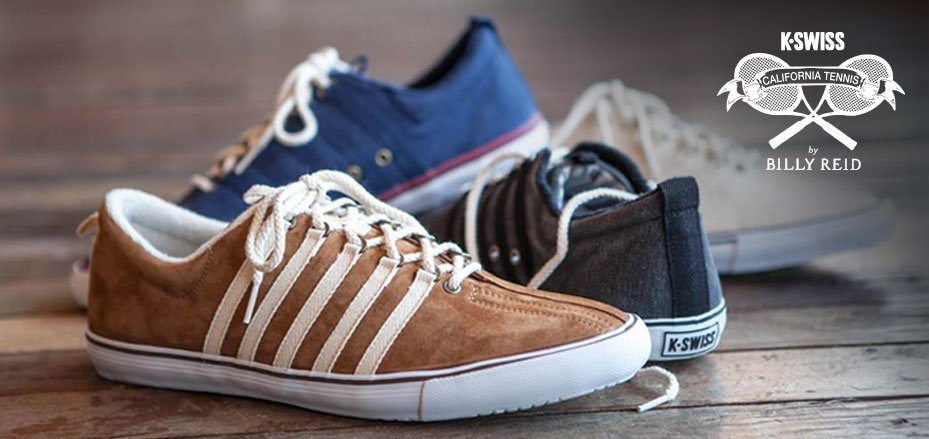 K-Swiss tennis shoes have been designer and CFDA/Vogue Fashion Fund Award winner Billy Reid's footwear of choice for a quarter century