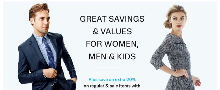 Great Savings & Values for women, men & kids