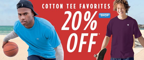 20% Off Cotton Tees