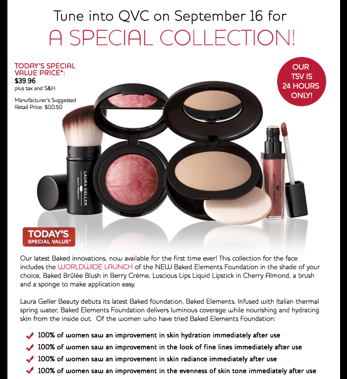Tune in to QVC on September 16 for a Special Collection!