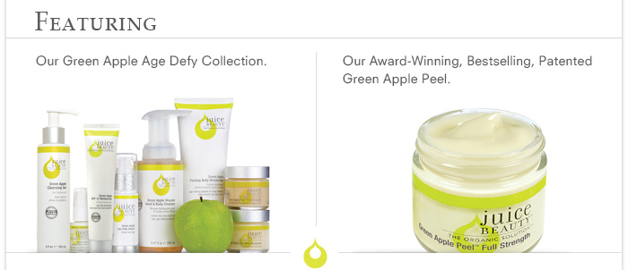 Featuring: Green Apple Age Defy Collection & Green Apple Peel