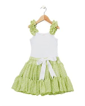 Oopsy Daisy Baby Polka Dot Print Ruffled Girl's Dress