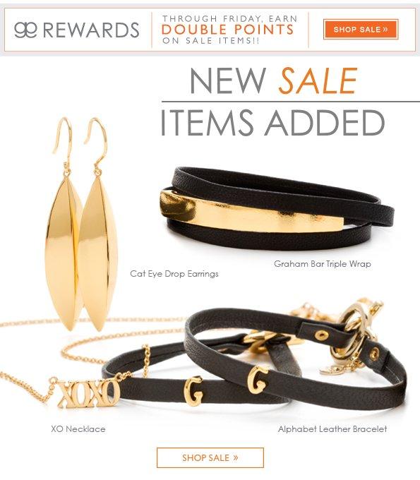 New Sale Items Added… Plus, ggINSIDERs Earn Double Points!