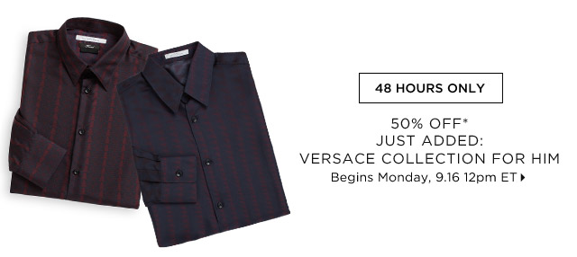 50% Off* Just Added: Versace Collection For Him...Shop Now