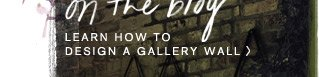 Learn how to design a gallery wall.