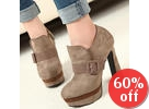 Belted Platform Shoe Boots