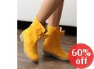 Patent Leather Bow Accent Rain Boots