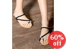 Jeweled Braid Thong Sandals