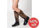 Cheetah Pattern Tall Boots