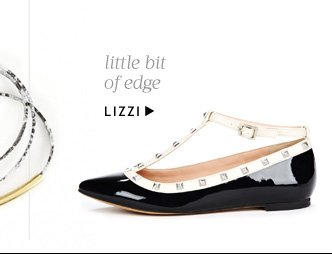 Little bit of edge. Shop Lizzi