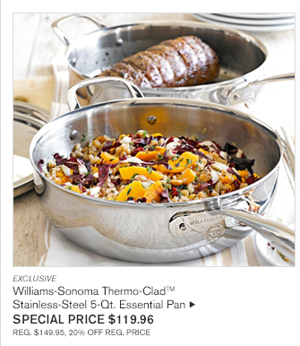 EXCLUSIVE Williams-Sonoma Thermo-CladTM Stainless-Steel 5-Qt. Essential Pan special price $119.96 reg. $149.95, 20% off reg. price