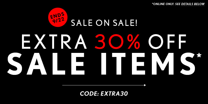 Extra 30% Off Sale Items! - Shop Now