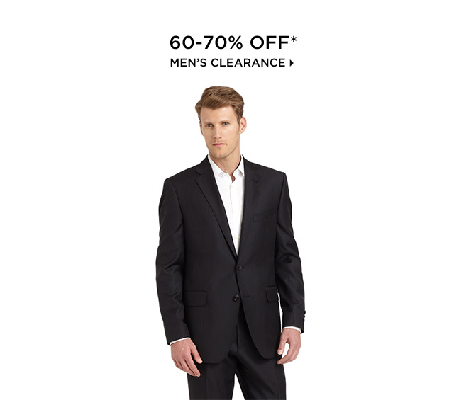 60-70% Off* Men's Clearance