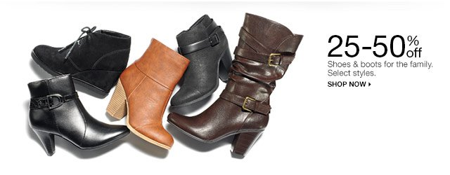 25-50% off Shoes & boots for the family. Select styles. Shop now.