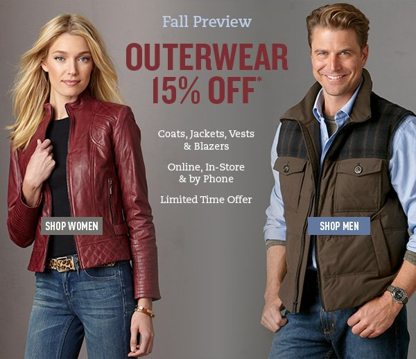 Outerwear 15% Off