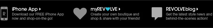 REVOLVEclothing Iphone App: Browse, shop and purchase the latest designer fashion and celebrity trends on the go.