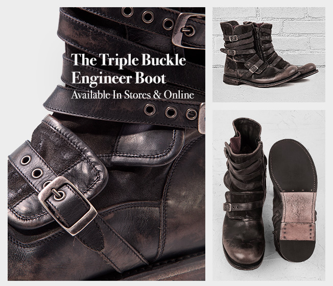 John Varvatos Introducing The Triple Buckle Engineer Boot