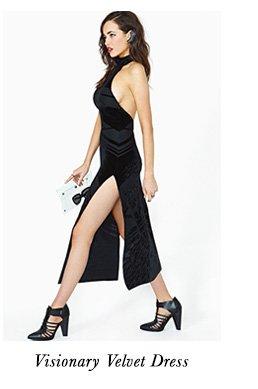 Visionary Velvet Dress