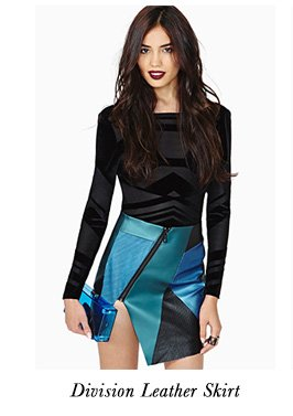 Division Leather Skirt